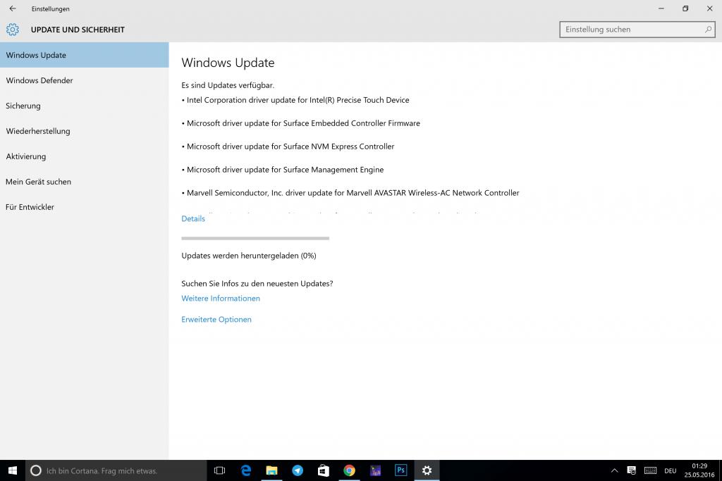 Surface Treiber Update