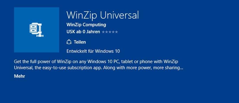 WinZip Universal App