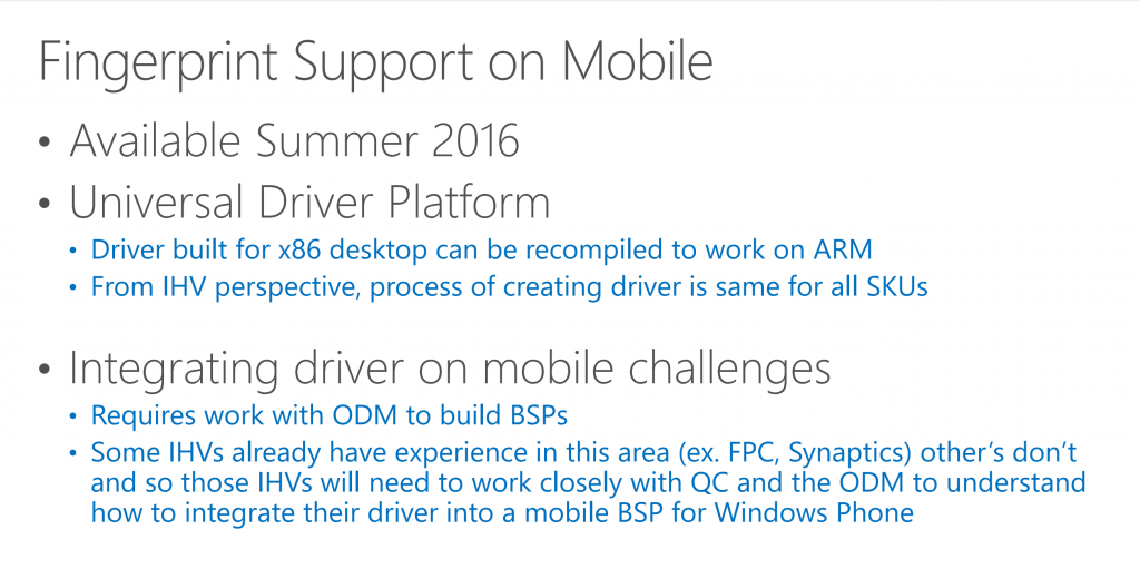 fingerabdruck windows 10 mobile