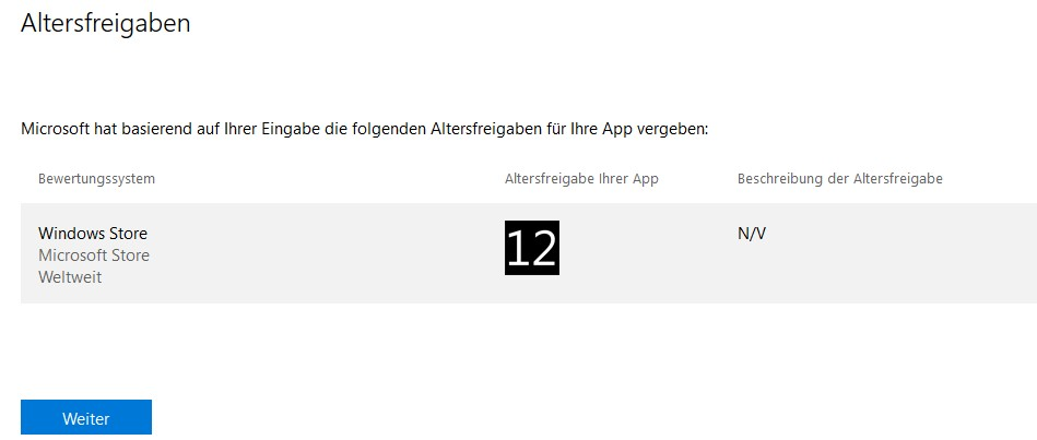 Altersfreigabe Apps