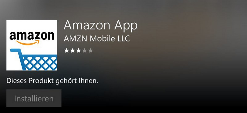 Amazon Windows Phone App