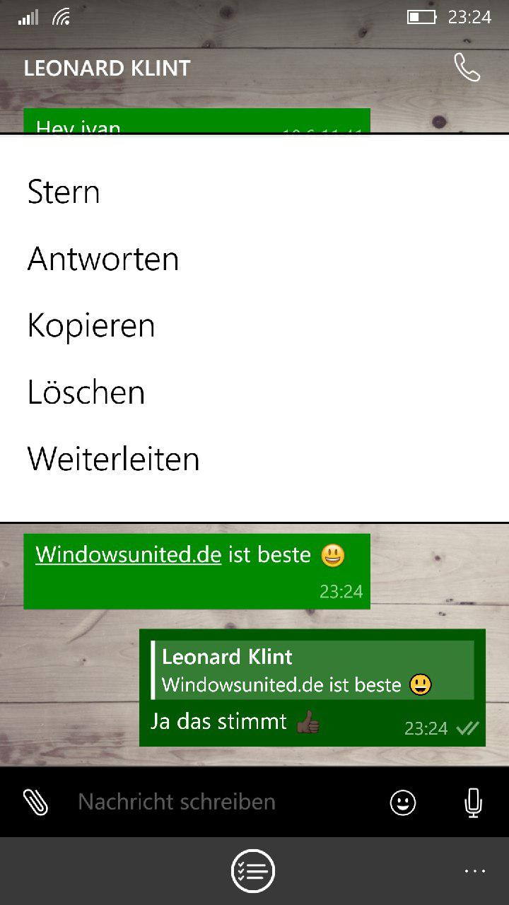 WhatsApp Beta direkt antworten