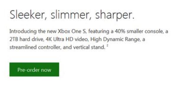 Xbox One S Beschreibung