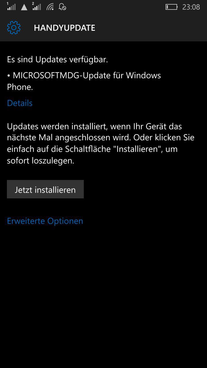 Firmwareupdate Lumia 950