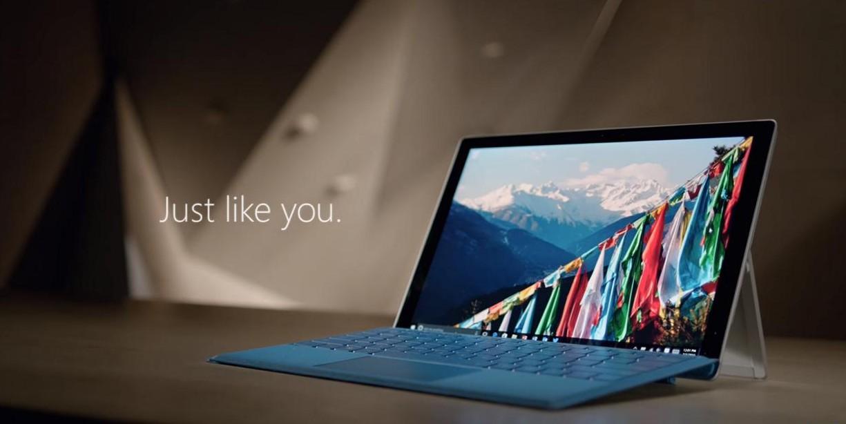 Surface Pro 4 werbung