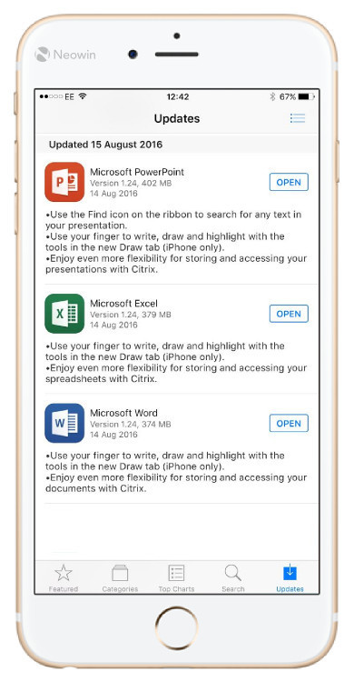 office ios update
