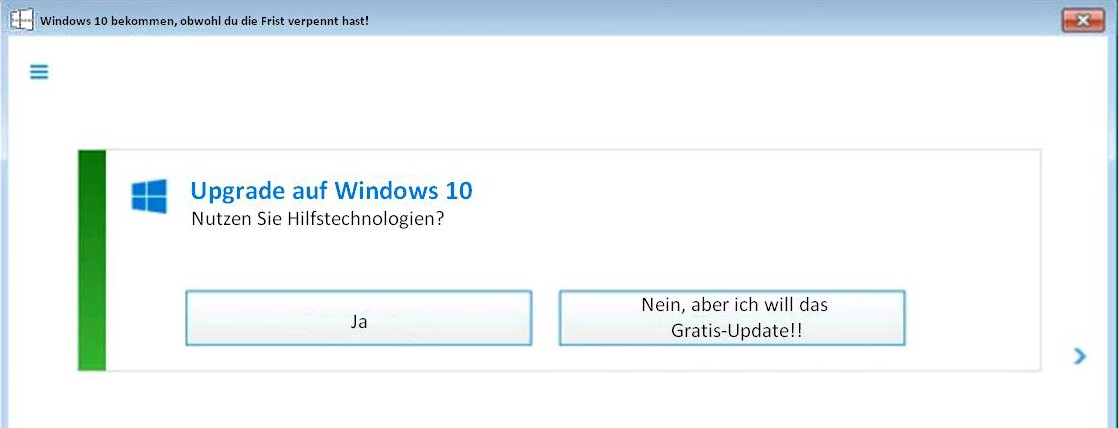 Gratis Update Windows 10