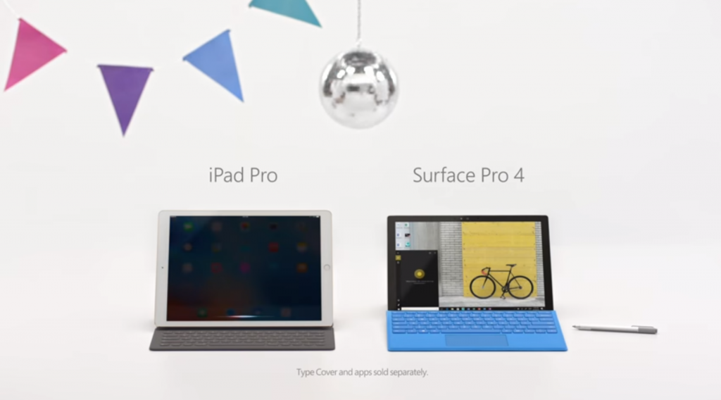 Surface Pro 4 vs. iPad Pro