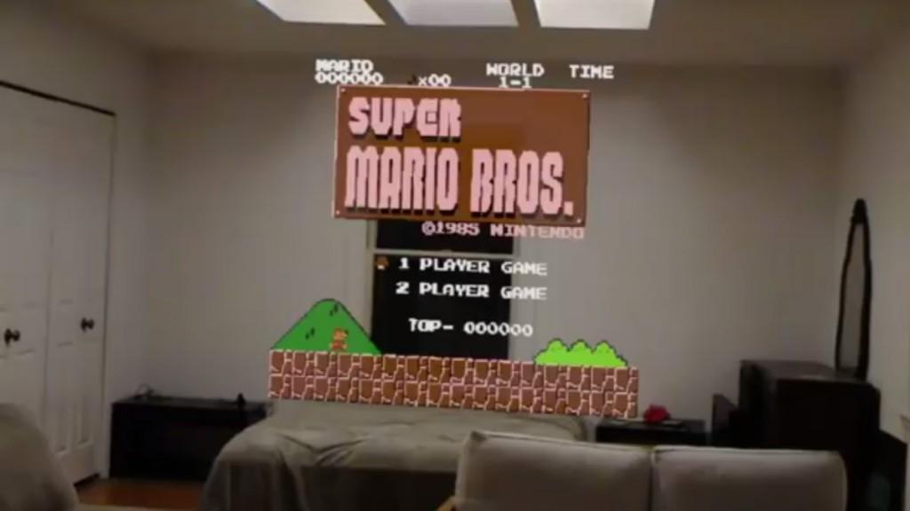 Super-Mario-HoloLens-NES