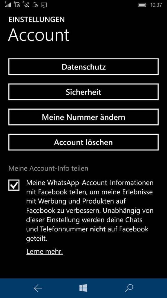 WhatsApp Facebook widerspruch