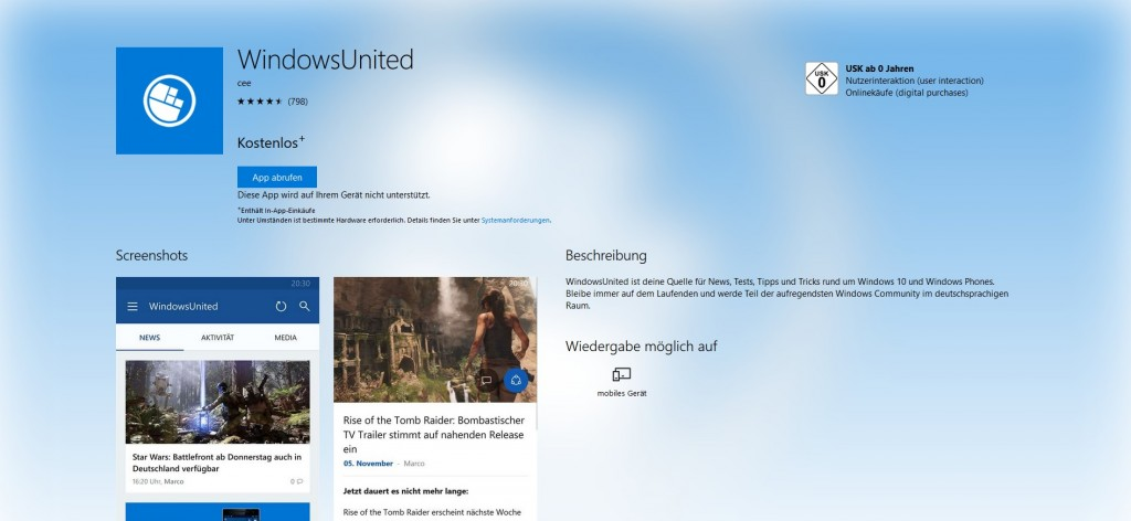 WindowsUnited Windows Store Web