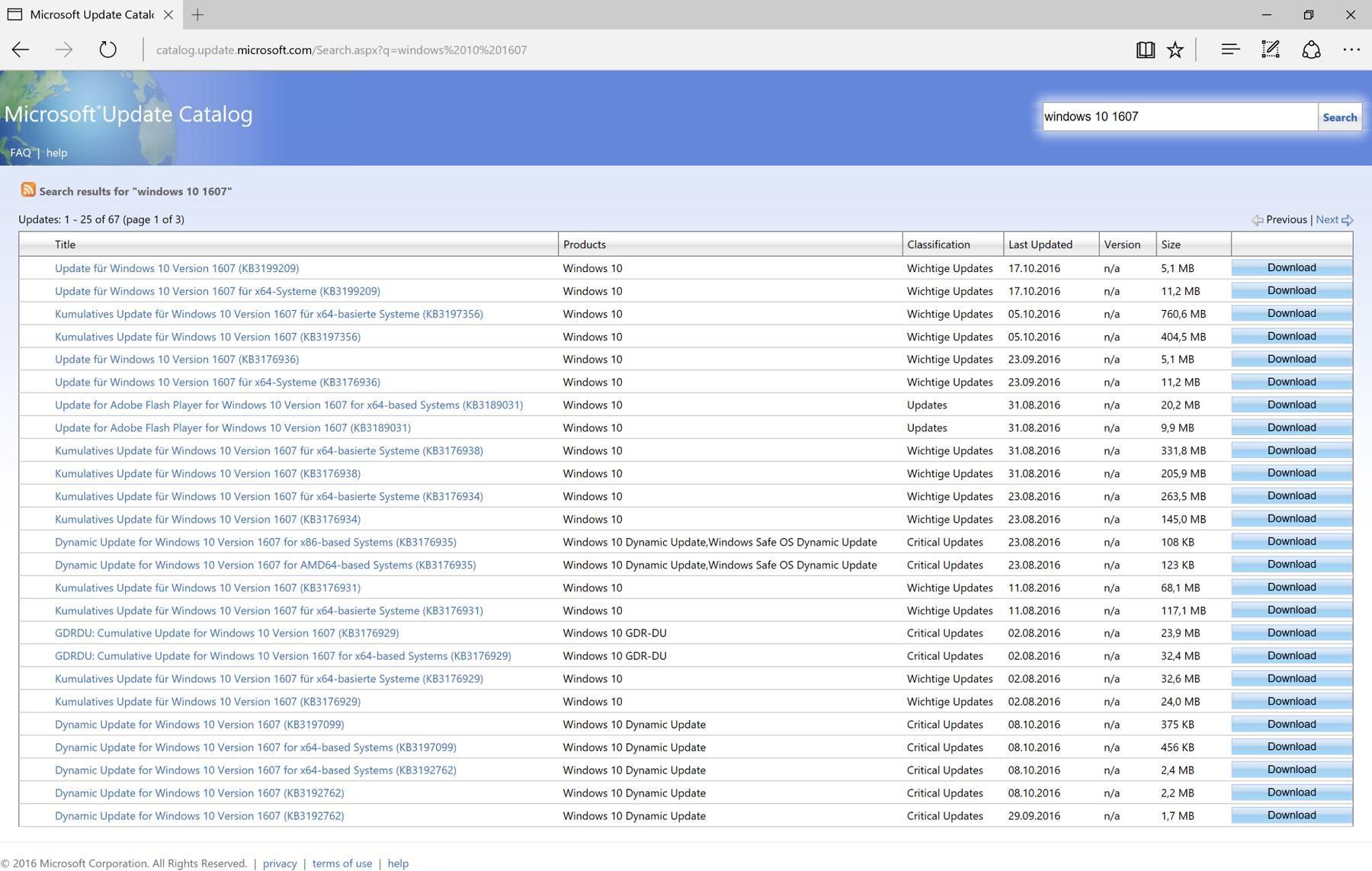 Microsoft Update Catalog Edge