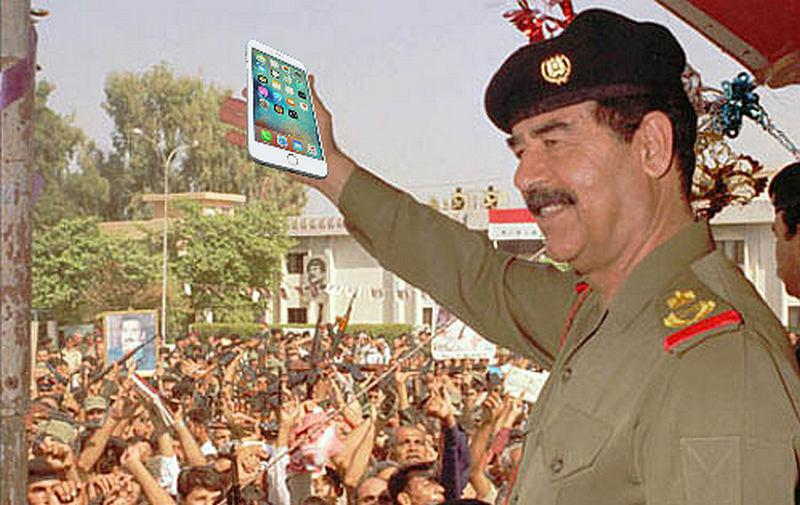 saddam iPhone
