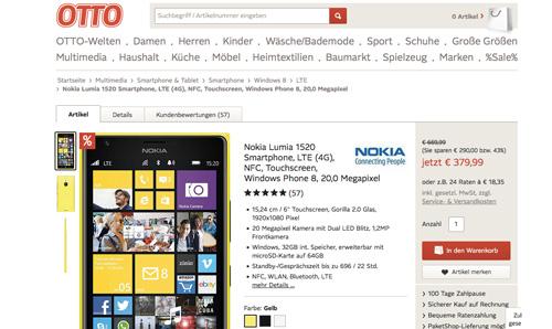Deal Der Woche Nokia Lumia 1520 Für Unter 400 Windowsunited