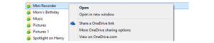 OneDrive Share-Link-Funktion
