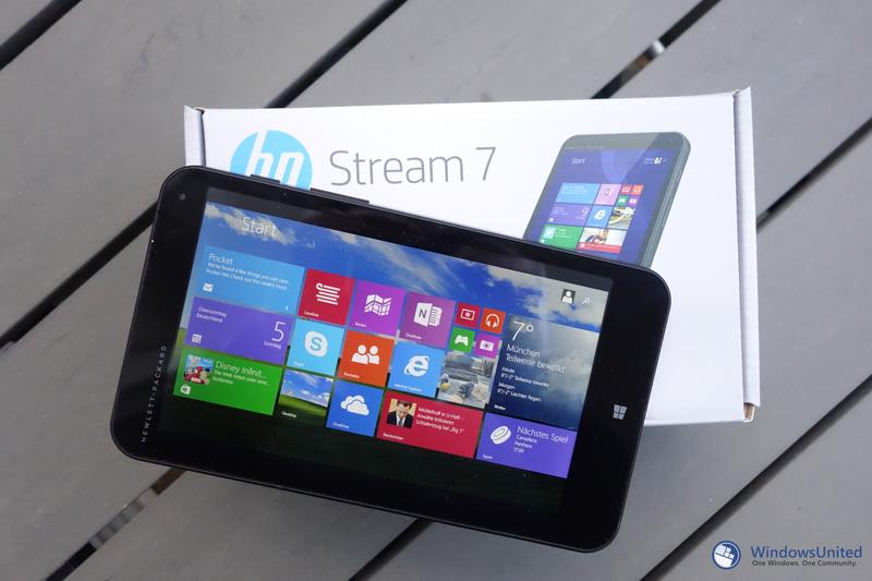 im test hp stream 7 das 7 zoll windows tablet ist ein fettes angebot windowsunited. Black Bedroom Furniture Sets. Home Design Ideas