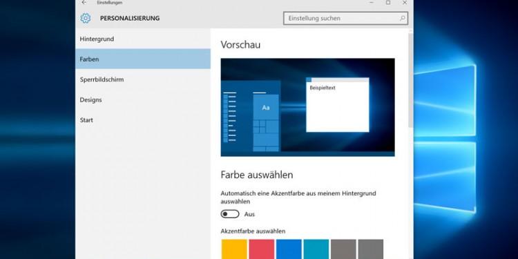 Windows 10 April 2019 Update UI Farben