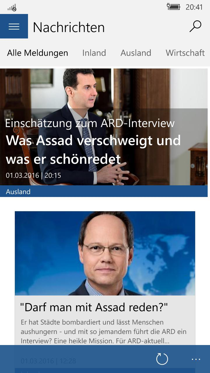 tagesschau app windows phone