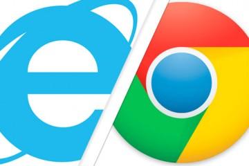 Google Chrome und IE