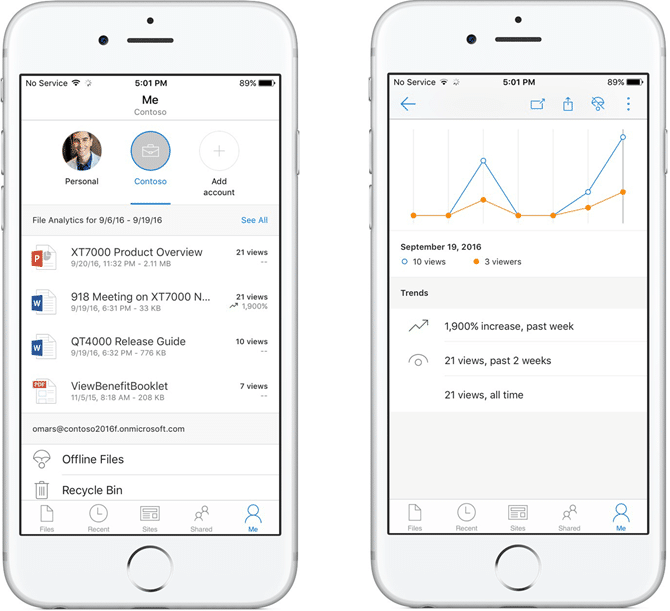 Onedrive ios Version 10.1