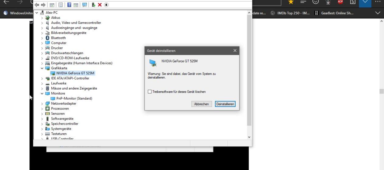 Windows 10 Version 1809 gestoppt