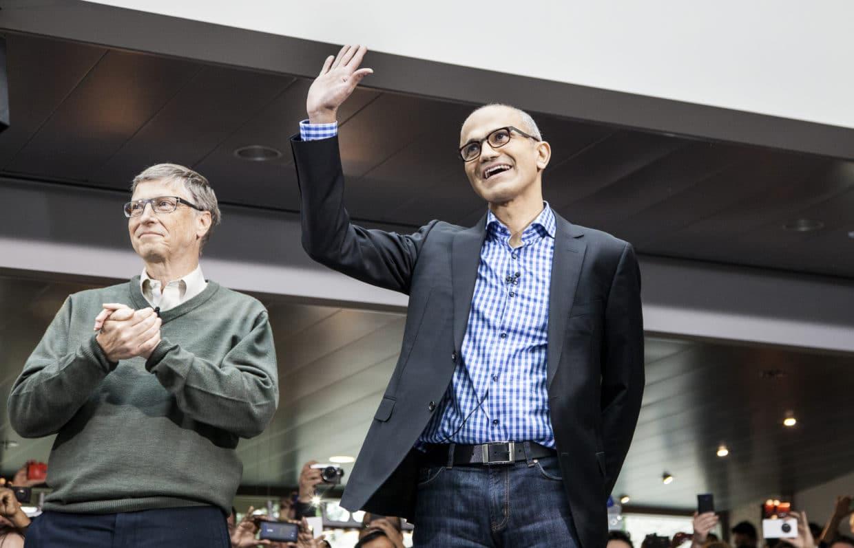 Bill Gates und Satya Nadella