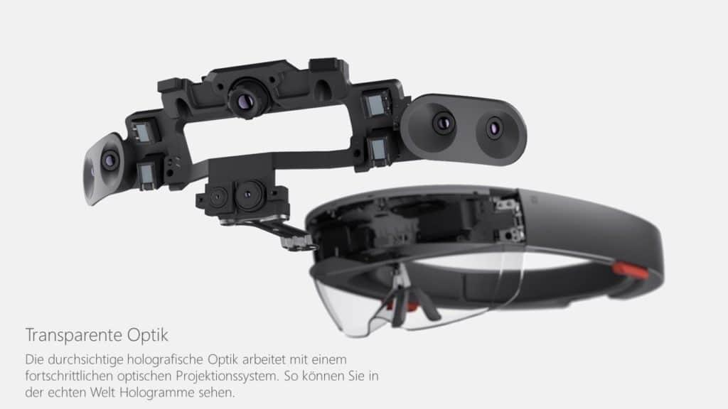 Transparente Optik der Hololens