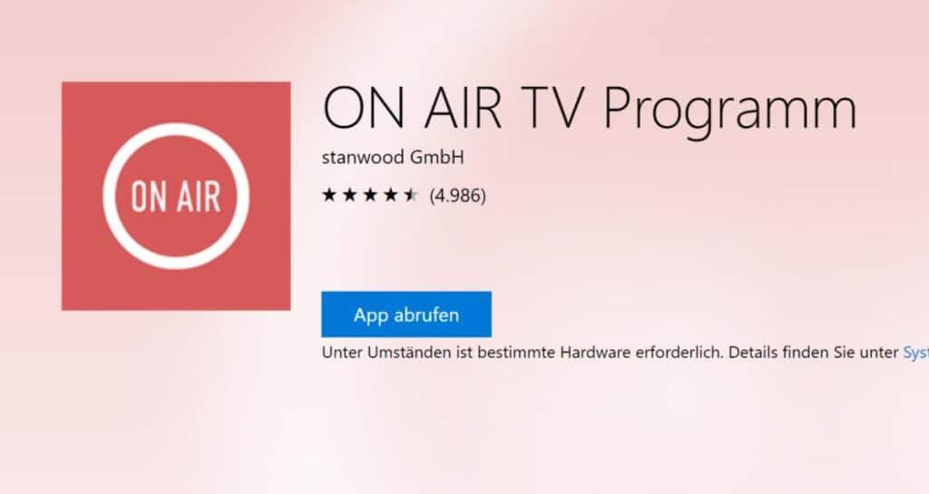 ON AIR TV Programm Windows App