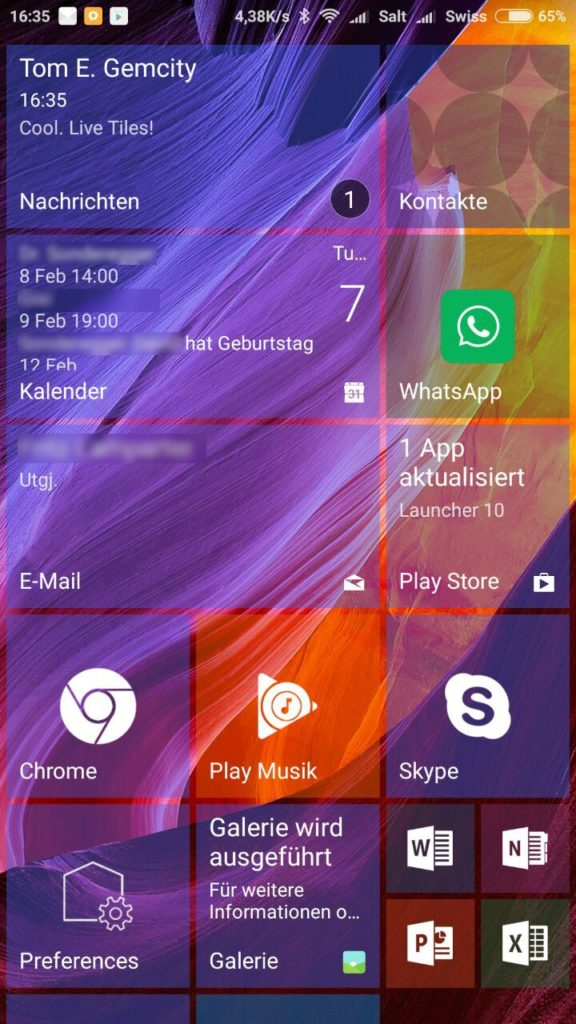 Launcher 10 Android App Launcher Live Tiles