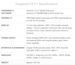 Spezifikation Panasonic FZ-F1