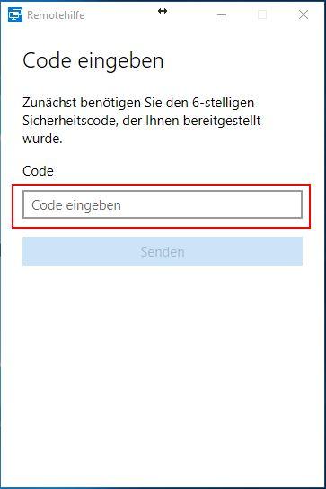 Code Eingabe