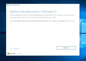 Windows 10 Creators Update Assistent Leak