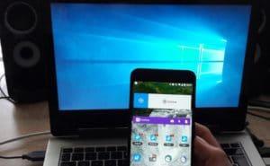 Notebook und Android Smartphone