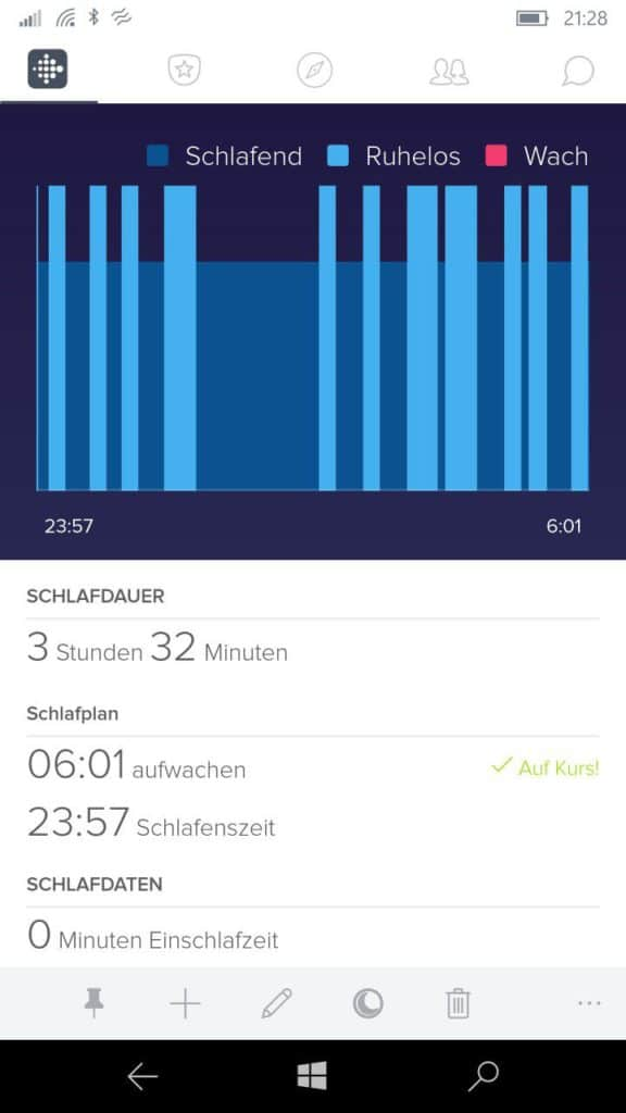 fitbit neue schlafanalyse features f r windows mobile. Black Bedroom Furniture Sets. Home Design Ideas