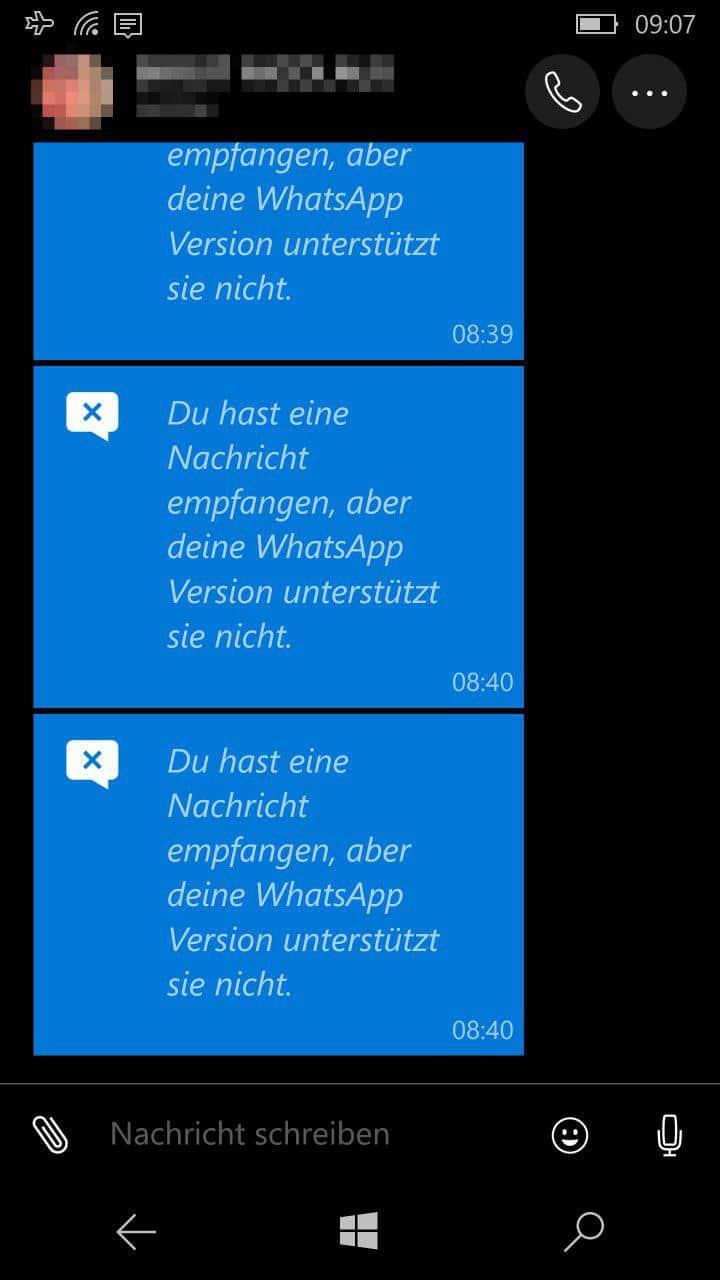 WhatsApp Beta Fehler Mediendateien