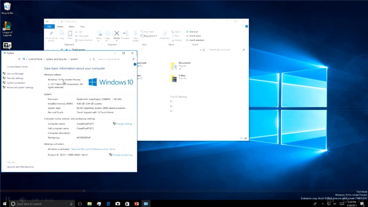 Windows 10 ARM Demo