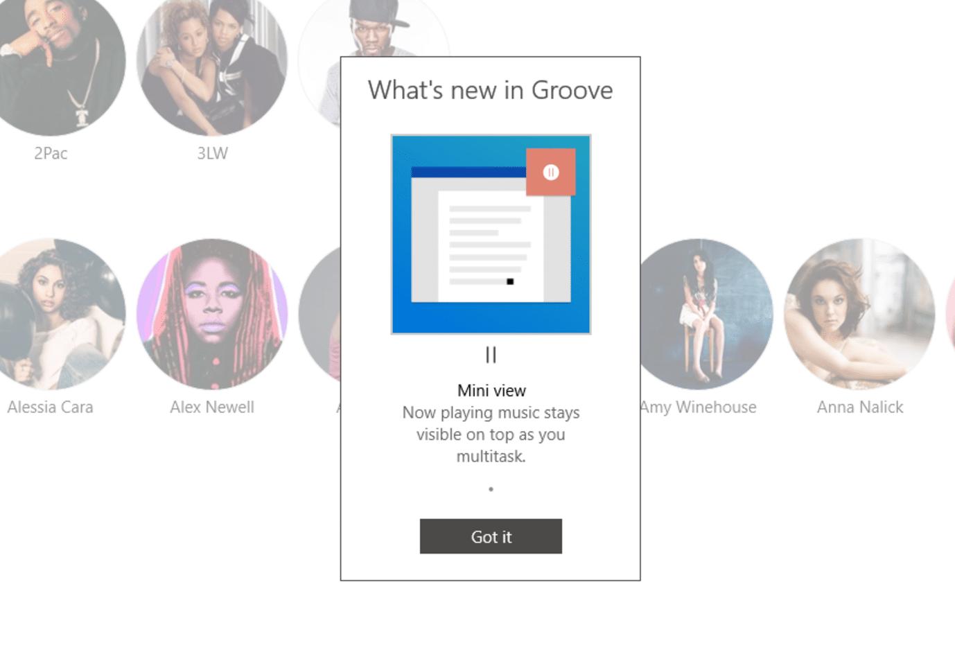 Groove Music Für Windows 10 Wird Neuen Mini Player