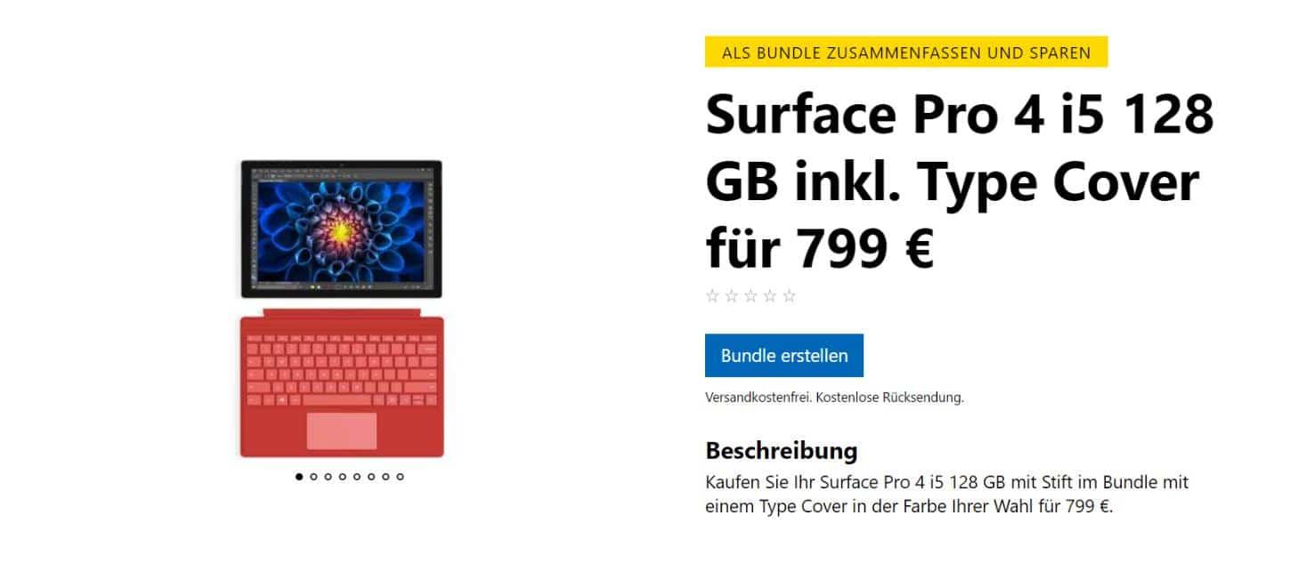 Surface Pro 4 Rabatt