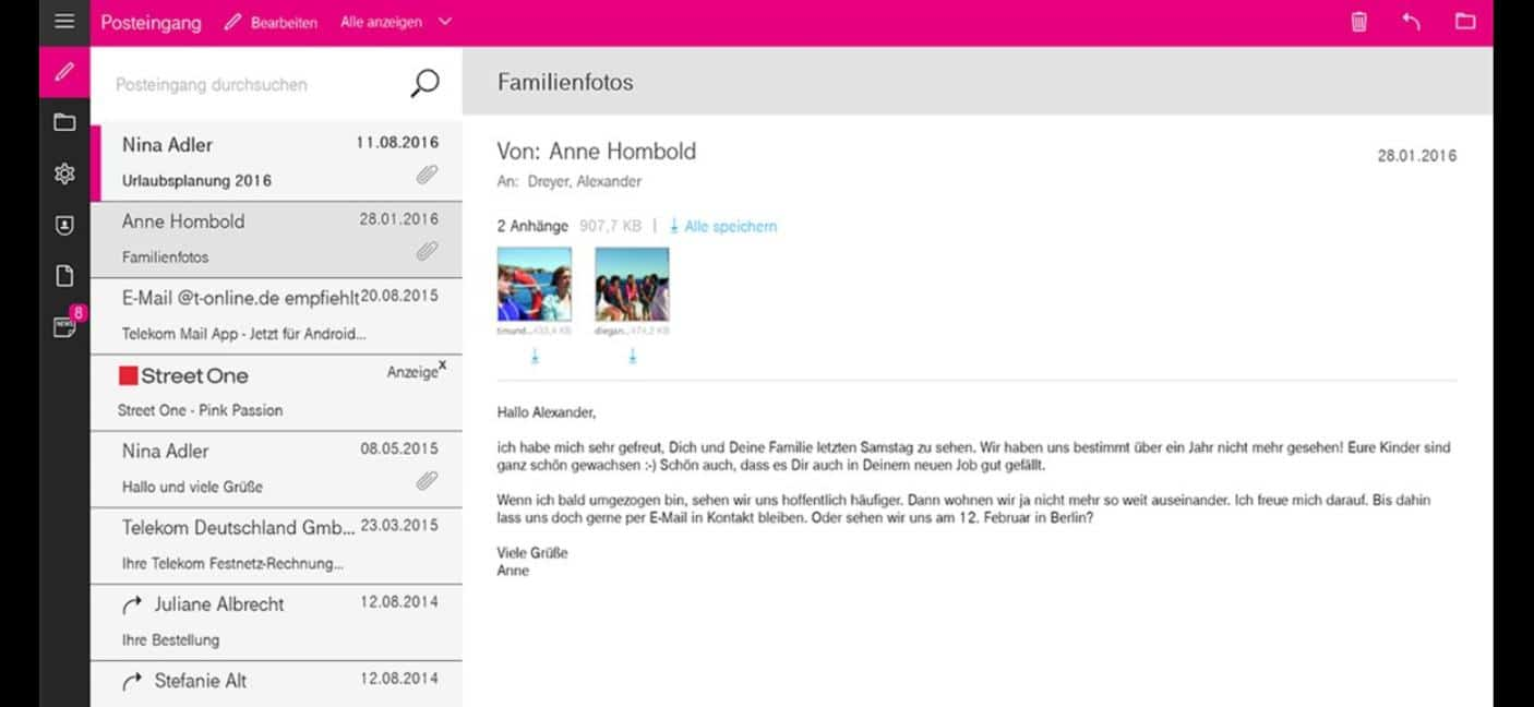 offizielle telekom mail windows 10 app im store verf gbar windowsunited. Black Bedroom Furniture Sets. Home Design Ideas