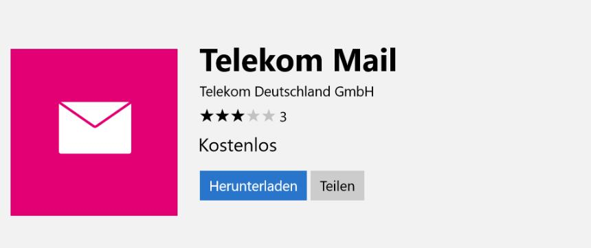 Offizielle Telekom Mail Windows 10 App Im Store Verfügbar