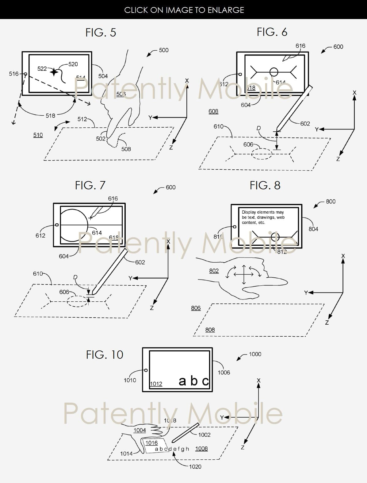 Microsoft Surface 3D Kamera Patent