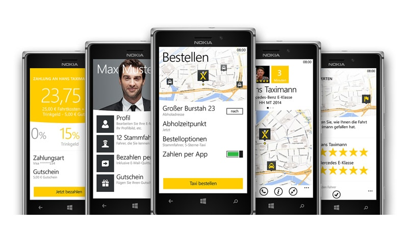 myTaxi Windows Phone App
