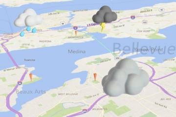 3D Modell Wolken in Karte