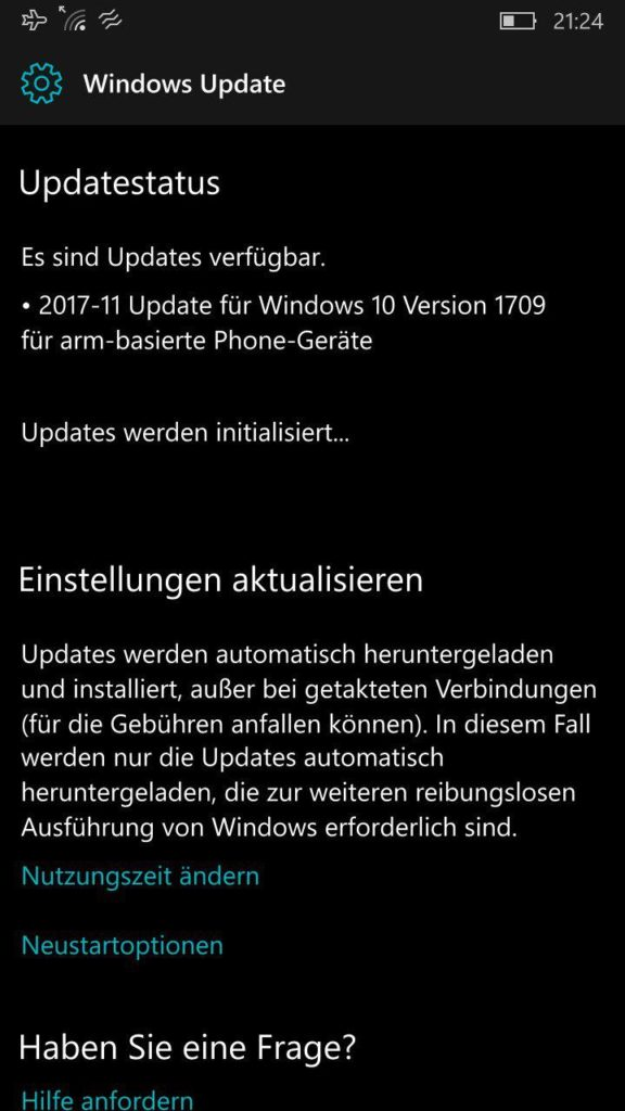 Lumia 950 kumulatives Update