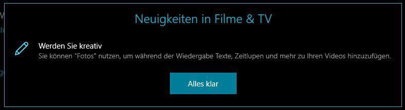 Filme & TV App Update