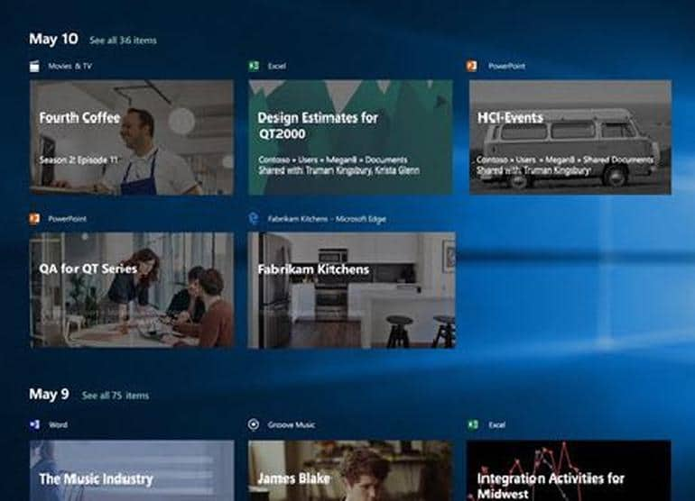 Windows 10 April 2018 Update timeline