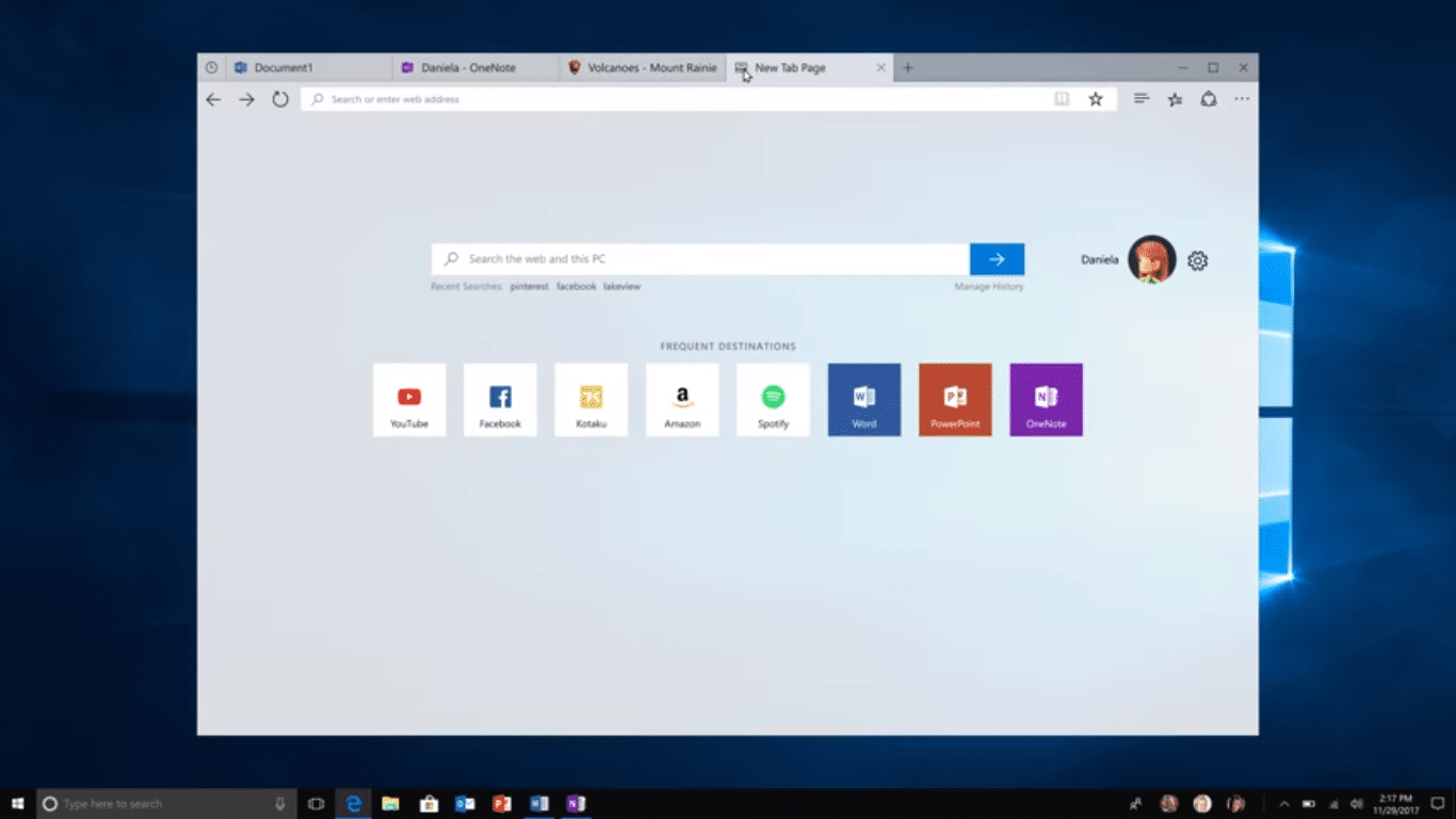 Windows 10 Sets Feature
