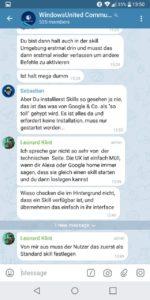 Sprechbasen Ansicht Telegram X