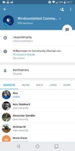 Chat Info Telegram X
