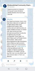 Chat Vorschau Telegram X